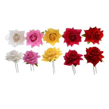 Beautiful Roses Hair Pins For Ladies