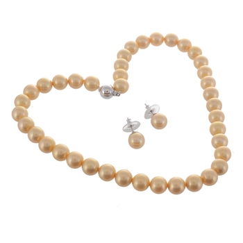 Yellow Freshwater Cultured Pearl Necklace