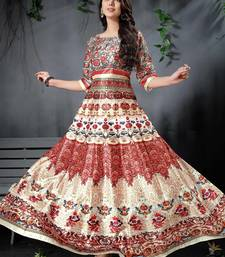 Marvellous Multi Colored Digital Print Partywear Designer Gown (Stitched)
