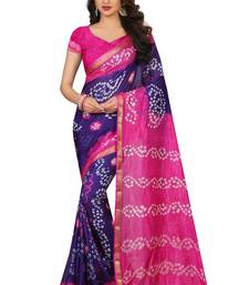 Multicolor woven saree with blouse