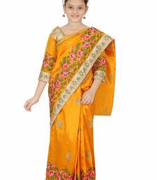 Bhartiya Paridhan gold embroidered net kids sarees