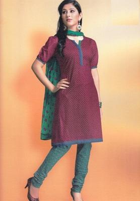 Cotton Dress Material Elegant Designer Unstitched Suit 1613
