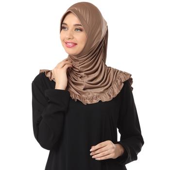 Dark Wheat Poly Cotton Ready To Wear Islamic Hijab