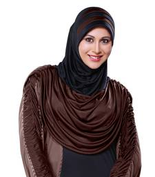 Blk Coco Poly Cotton Ready To Wear Islamic Hijab