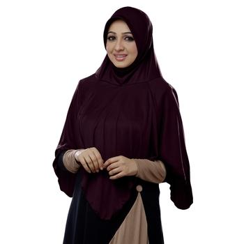 Wildberry Poly Cotton Ready To Wear Islamic Hijab