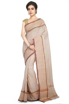 224d13aa5 Multicolor Plain Cotton Saree