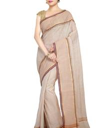 Multicolor Plain Cotton Saree