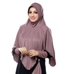 Coffee Poly Cotton Ready To Wear Islamic Hijab