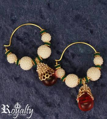 Royal Polkis Gemstone Earrings