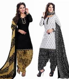 Buy Multicolor printed crepe salwar with dupatta salwar-combo online