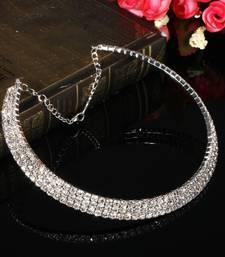 Buy Silver diamond chokers choker online