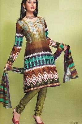 Cotton Dress Material Elegant Designer Unstitched Suit 1633