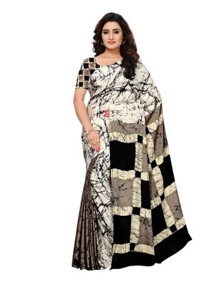 996b486f909b16 Multicolor printed crepe saree with blouse - Satrani Fashion - 2706320