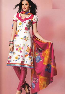 Cotton Dress Material Elegant Designer Unstitched Suit 1637