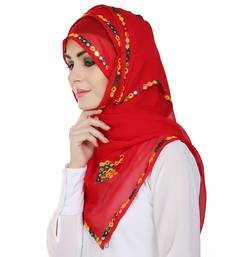 Momin Libas Embroidered Chiffon Girls Scarf