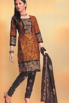 Cotton Dress Material Elegant Designer Unstitched Suit 1645
