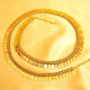 Antique Gold Look Coin Waistbelt