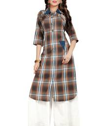 Multicolor Rayon Party Wear Stitched Kurti Set