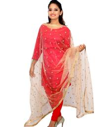 Buy Golden net dupatta with embroidery work stole-and-dupatta online