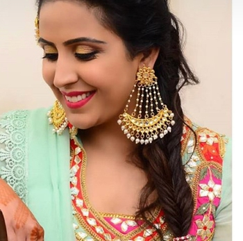 Kundan and Pearls Designer Chandbaali
