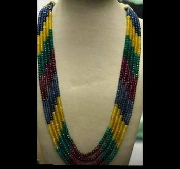 Multicoloured Semi precious Onyx Necklace