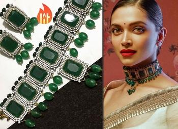 Green Onyx Victorian Work Rich Choker Necklace