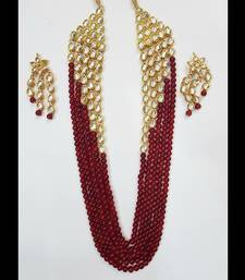 Buy Kundan and Red Onyx Necklace Set necklace-set online