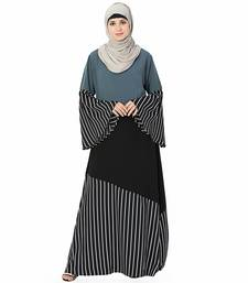 Multicolor printed polyester stitched islamic abaya
