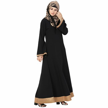 Multicolor plain polyester stitched islamic abaya