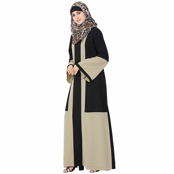 Multicolor plain polyester stitched islamic abaya