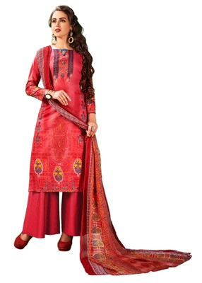 Multicolor Printed Cotton Salwar With Dupatta