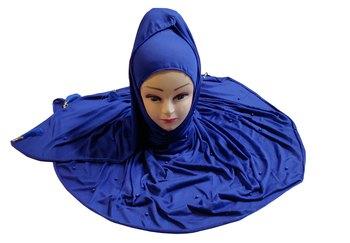 Blue Color Beads And Tassel Work Hosiery Cotton Women's Headscarf