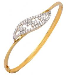 american diamond  filigree flora openable kada bangle bracelet