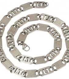 mens stainless steel silver matt finish italian link rope cha