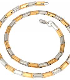 mens stainless steel gold plated classic rope chain