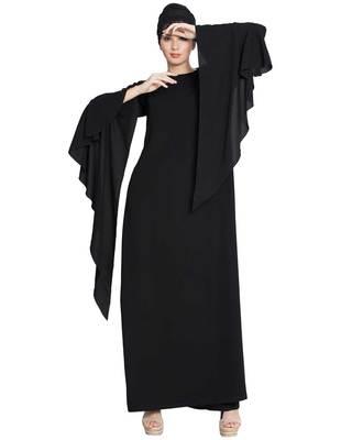Black Plain Nida Islamic Abaya