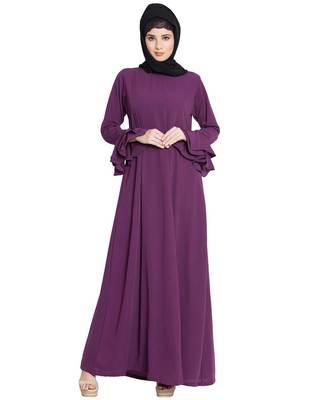 Purple Plain Nida Islamic Abaya