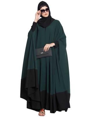 Green Plain Nida Islamic Abaya