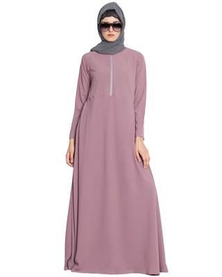 Pink Plain Nida Islamic Abaya