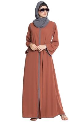 Rust Plain Nida Islamic Abaya