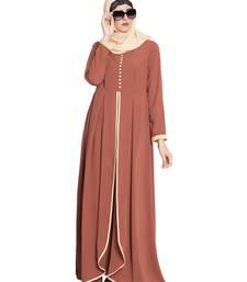 Buy Rust Plain Nida Islamic Abaya abaya online
