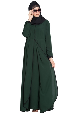 Dark Green Plain Nida Islamic Abaya
