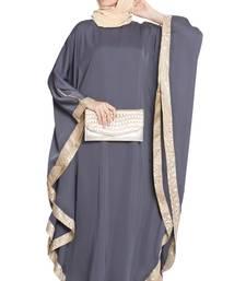 Dark Grey Plain Nida Islamic Abaya