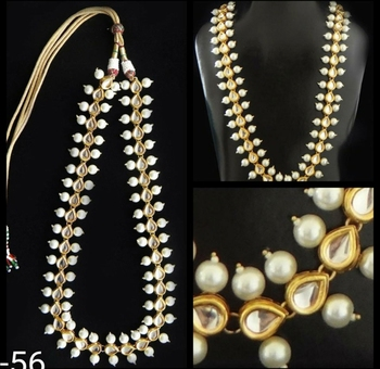 Kundan and Pearl Long Necklace