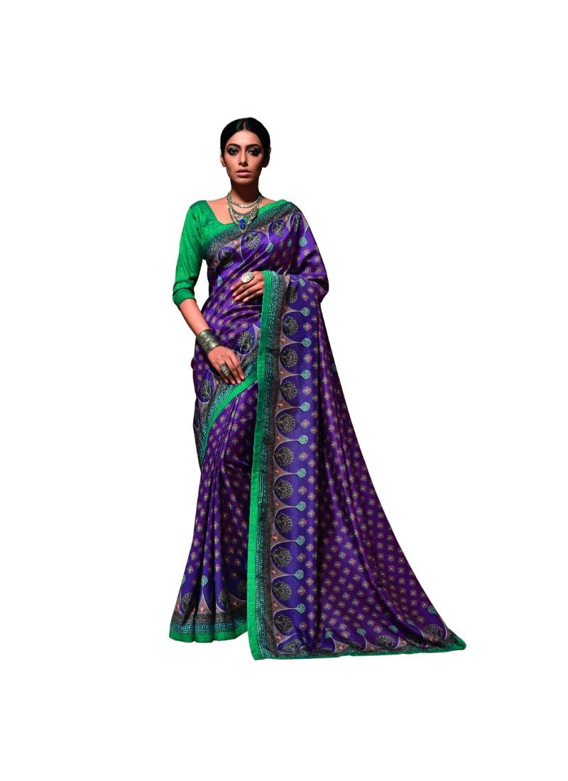 Page 5 Of Tussar Silk Sarees Kemeja Lavender Contrast Multicolor Shop At Velvet