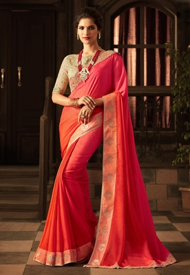c659fd535f Multicolor embroidered art silk sarees saree with blouse - Manjula Feb -  2714085