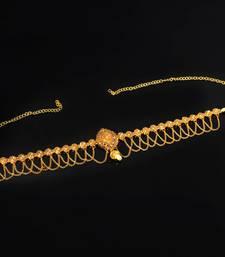 Buy Gold Color Rhinestone Kamarband For Women women-ethnic-wear online
