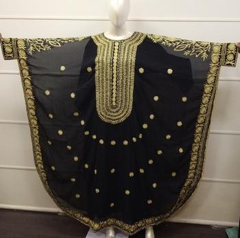 Balck Embroidered Georgette Islamic Farasha