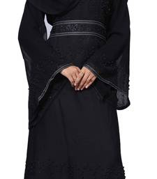Black Color Nida Abaya Burkha With Beads Work For Women