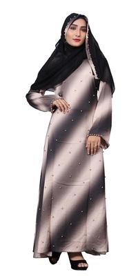 Multi Color Nida Abaya Burkha With Hijab Dupatta For Women